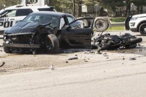 Crash Between a Car and a Motorcycle